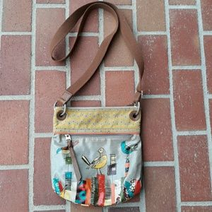 Fossil Key-per Bird Print Bag